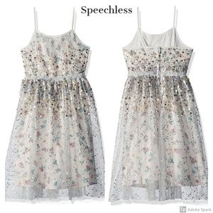 Speechless Floral Sequin Tulle Occasion Party New